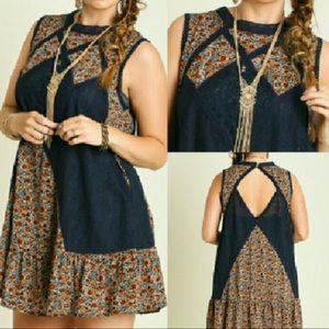 Boho dress/tunic with lace detail NWT